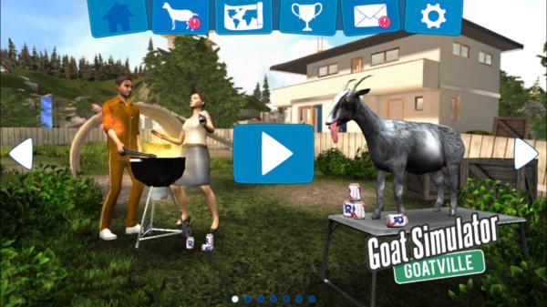 ゴート・シミュレーターのゲーム画面